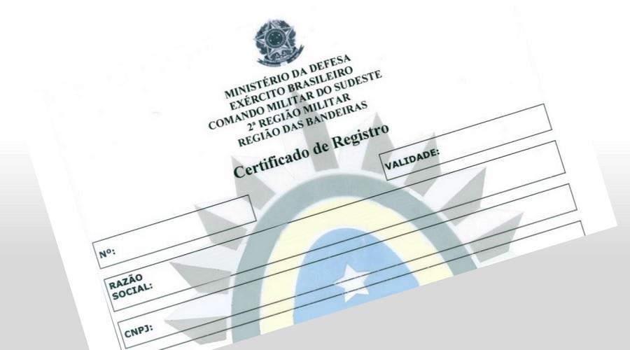 b685e11d85 Como obter o CR - Certificado de Registro para blindagem   Portal Blindados    O seu Canal de Notícias & Serviços